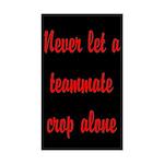 Santa's Newfie 3/4 Sleeve T-shirt (Dark)