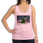 Xmas Magic/PBGV (#1) Racerback Tank Top