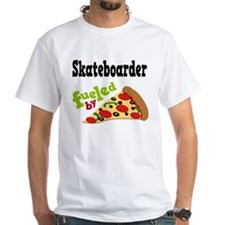 Skateboarder Funny Pizza Shirt