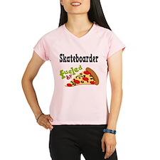 Skateboarder Funny Pizza Performance Dry T-Shirt