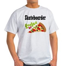 Skateboarder Funny Pizza T-Shirt