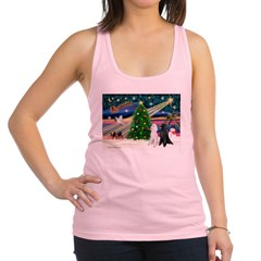 XmasMagic/ 2 Std Poodles Racerback Tank Top