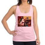 Santa's Two Pugs (P1) Racerback Tank Top