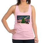 XmasMagic/2 Rotties Racerback Tank Top