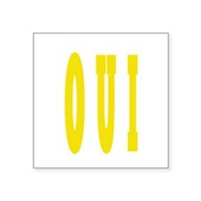 "OUI Square Sticker 3"" x 3"""