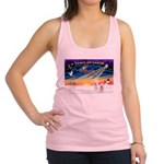 XmasSunrise/2 Westies Racerback Tank Top