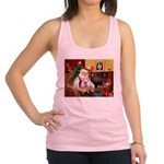 Santa & his 2 Whippets Racerback Tank Top