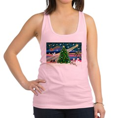 Xmas Magic & Whippet Racerback Tank Top