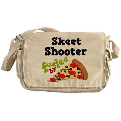 Skeet Shooter Funny Pizza Messenger Bag