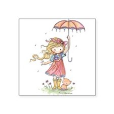 "In the Rain Square Sticker 3"" x 3"""