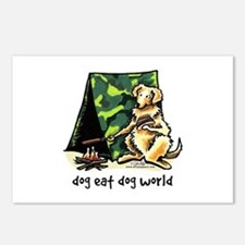 Golden Retriever Eat Dog Postcards (Package of 8)