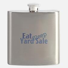 Eat Sleep Yard Sale Flask