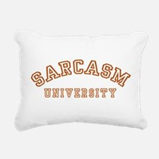 Sarcasm University Rectangular Canvas Pillow