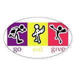 Go Eat Give logo Sticker (Oval)