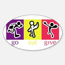 Go Eat Give logo Decal