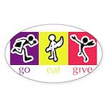 Go Eat Give logo Sticker (Oval)