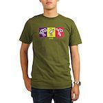 Go Eat Give logo Organic Men's T-Shirt (dark)