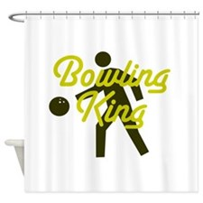 Bowling king Shower Curtain