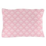 Pink and White Floral Damask Pattern
