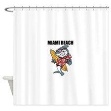 Miami Beach Shower Curtain