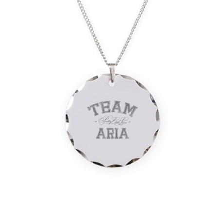 Team Aria - Pretty Little Liars Necklace Circle Ch