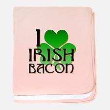 I Love Irish Bacon baby blanket