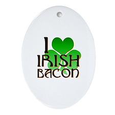 I Love Irish Bacon Ornament (Oval)