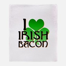 I Love Irish Bacon Throw Blanket