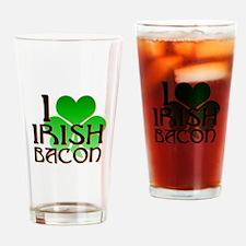 I Love Irish Bacon Drinking Glass