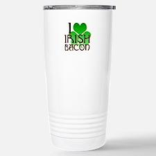 I Love Irish Bacon Stainless Steel Travel Mug
