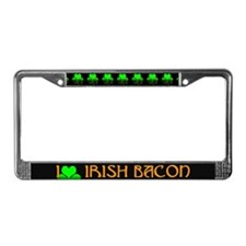 I Love Irish Bacon License Plate Frame