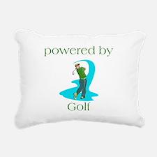 Powered By Golf Rectangular Canvas Pillow