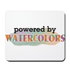Powered By Watercolors Mousepad