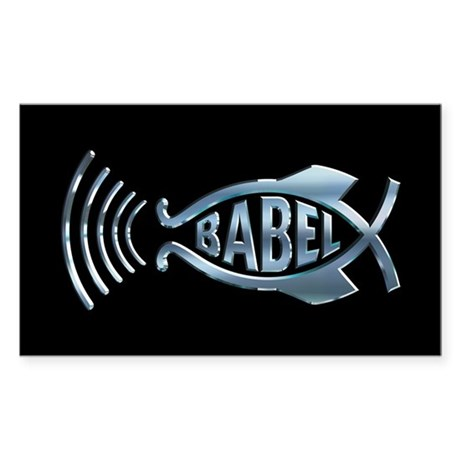Babel Fish Rectangle Sticker