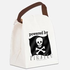 Powered By Pirates Canvas Lunch Bag