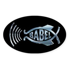 Babel Fish Oval Decal