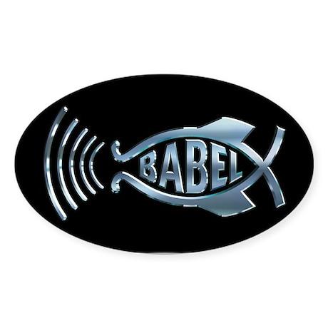 Babel Fish Oval Sticker
