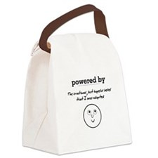 Powered By Hope I Was Adopted Canvas Lunch Bag