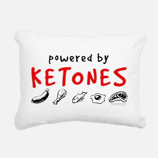 Powered By Ketones Rectangular Canvas Pillow