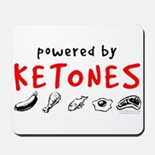 Powered By Ketones Mousepad