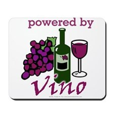 Powered By Wine Mousepad