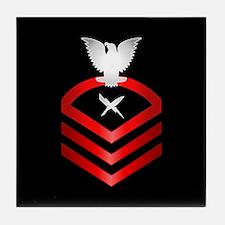 Navy Chief Cryptologic Technician Tile Coaster