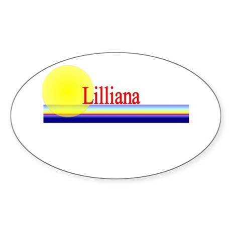Lilliana Oval Sticker
