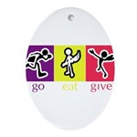 Go Eat Give logo Ornament (Oval)