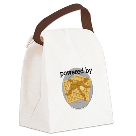 Powered By Waffles Canvas Lunch Bag