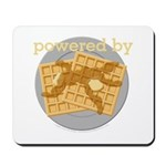 Powered By Waffles Mousepad