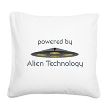 Powered By Alien Technology Square Canvas Pillow