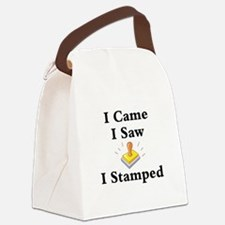 I Came I Saw I Stamped Canvas Lunch Bag