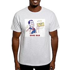 WAY WAY COOL DAD Ash Grey T-Shirt