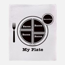 Bacon My Plate Throw Blanket